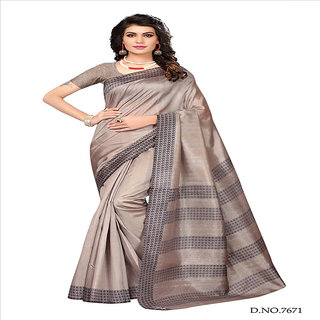 Linaro Lifestyles Women's Bhagalpuri Cotton Silk Saree With Blouce Piece