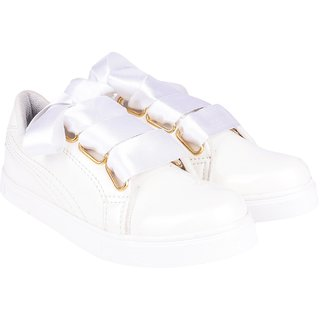Do Bhai Women's White Sneakers