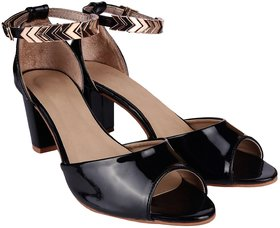 Do Bhai Women's Black Heels - 140750604