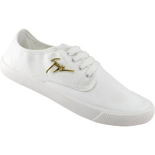 Purport Men's White Synthetic Leather Casual Shoes
