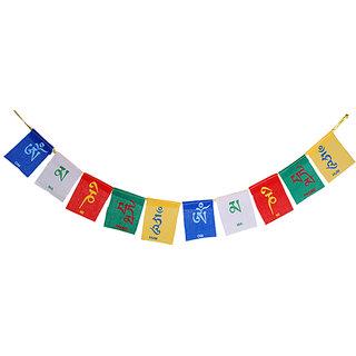 Scoria Tibetan Multi Colour Prayer Flag For Bike