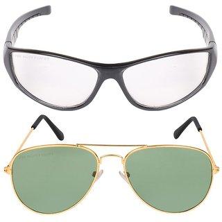 Ivonne Multicolor Uv Protected Unisex Sunglasses Pack Of 2