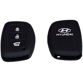 tfs Silicon Car Remote Key Cover For Hyundai Creta - Multicolour