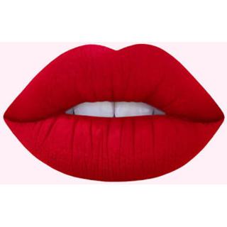 Hot red lipstick matt