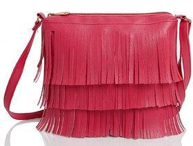 Mammon Women's Pink Sling Bag(slg-jhalar-pink, Size-11x8 inch)