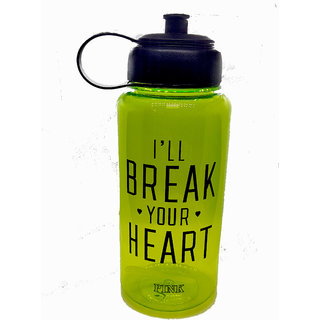 EREIN All New Fitness Slogan-(I'll Break Your Heart) Sport Sipper Water Bottle for Gym/Outdoor Bicycle/Cycling / C