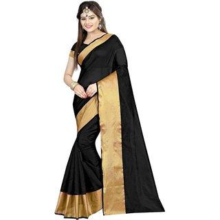 4Tigers New Designer Womens Cotton Silk Saree With Blouse Piece