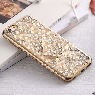 reputable site 0bf32 7a51c 3D Stylish Glitter Diamond Pattern Sunflower Soft TPU Back Cover Case for  Vivo V7 Plus (Gold)