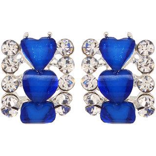 GoldNera Blue Heart Stud Earring
