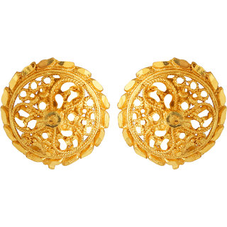 GoldNera Pretty Ethnic Gold Plated South Indian Ear Stud