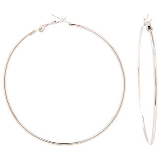 GoldNera Silver Hooped Ethnic Look Bali Earring For Women And Girl