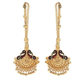 Goldnera Ethnic Wedding South Indian Style Hanging Earrings