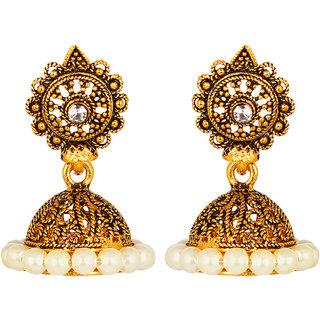 GoldNera Small GoldPlated Jhumki For Women