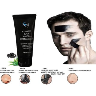 IMEN Black Charcoal Peel off Mask  Ultimate Blackhead Remover Skin DeTox, Deep Cleansing  Instant Glow (100 Organic