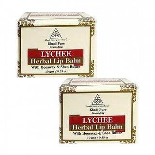 Khadi Pure Herbal Lychee Lip Balm - 10g (Set of 2)
