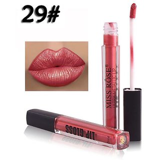 Miss Rose Matte Liquid Lipstick Metallic look  Color Waterproof Long Lasting Hot Sexy Color Lip Gloss