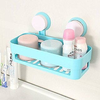 ZEVORA Piece Bath and Kitchen Storage Shelf with Suction Cup Mounting for Keeping Toiletries, Kitchen Items and More