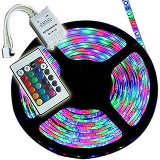 Super RGB Remote Control LED Strip Light Colour Changing for Diwali and Christmas Lighting (Multicolour)