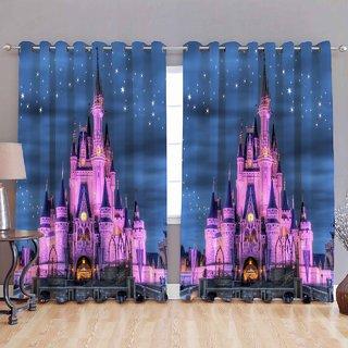 Titos Designer 5D Door Curtains (Set of 2 7 feet)