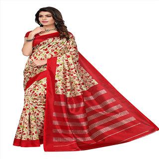 Linaro Lifestyles Women's Kalamkari Mysore Silk Saree Cotton Silk Saree With Blouce Piece
