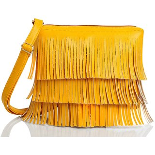 Mammon Women's Cute Sling Bag(slg-jhalar-yellow, Size-11x8 inch)