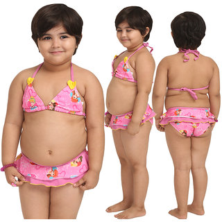 Buy The Little Princess-Girls Fascinating Cartoon Print Multi Baby Pink  Halter Skirted Bikini Bottom Online - Get 43% Off 6d7441d35
