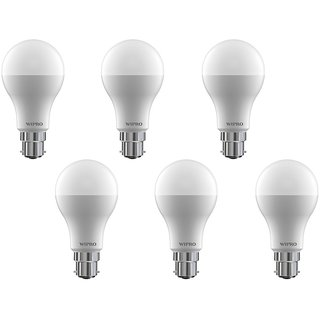 Wipro 18 W Led 6500K Cool Day Light Bulb (White Pack Of 6)