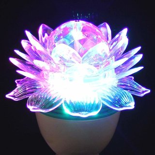 B22 Holder 360 Degree LED Crystal Lotus Rotating Bulb for Decoration & Disco Function. B22 Holder - 1 Pc