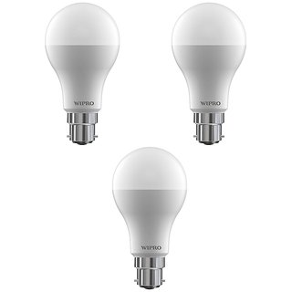 Wipro 9 W Led 6500K Cool Day Light Bulb (White Pack Of 3)