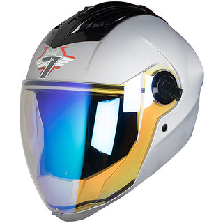 9c0ca520 Steelbird SBA-2 7WINGS Full Face Helmet with Dual Action Night Vision Visor  in Matt