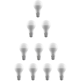 Wipro 9 W Led 6500K Cool Day Light Bulb (White Pack Of 10)