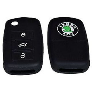 Buy Silicon Car Key Cover For Skoda Rapid Black 1pc Online Get