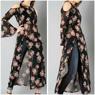 smart floral cape tunic