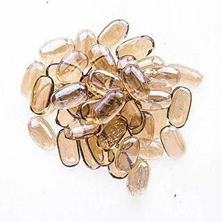 ZEVORA Home Decorative Capsule Shape Glossy Pebbles Stone for Home Garden Decor Aquarium Stones (300 Gm)