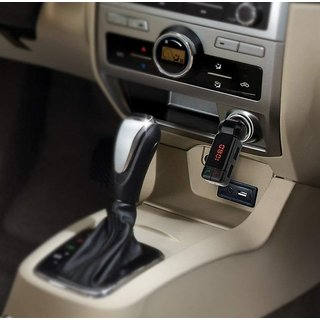 Favourite Deals BC06S Wireless Bluetooth Car Charger Dual USB FM Transmitter Current Voltage Display