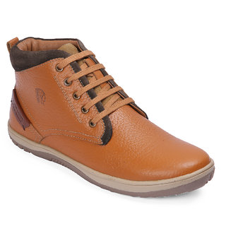 Red Chief Tan Mid Ankle Leather Boot For Men (RC3551 107)