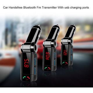 Favourite Deals BC-06 Bluetooth Car Charger, Digital Wireless Bluetooth FM Transmitter