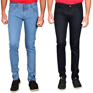Waiverson Slim Fit Steachable Cotton Multicolour Jeans