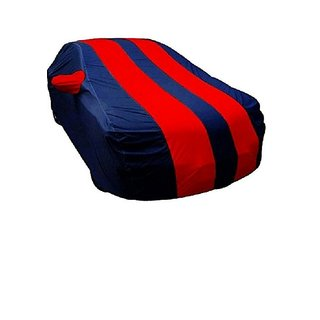 GS- Premium Quality Multi Stitched Waterproof Parachute Red & Blue Blue Car Body Cover for Fiat Punto  -(With Side Mirror Pockets)