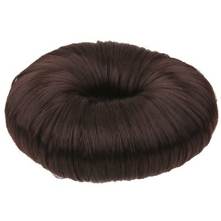JAGTEK Hair Donut Hair Ring Hairstyle Bun creator Bridal Hair Piece (Jet Black) Bun  (Black)