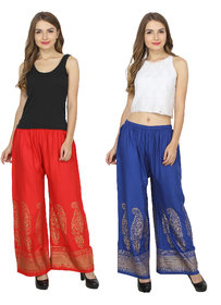 RMG Fashion presents Red & Blue Stylish & comfortable Plazo Pants
