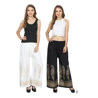 RMG Fashion presents Beige & Black Stylish & comfortable Plazo Pants