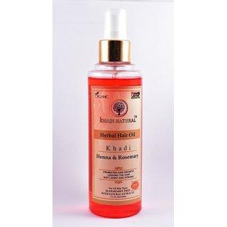 Khadi Natural Heena and Rosemery Hair Oil 210 ml
