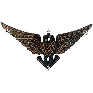 Desi Karigar Handmade Wooden Key Hanger Holder Wall Decor Eagle