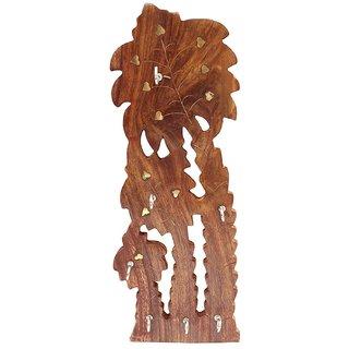 Desi Karigar Handmade Wooden Key Hanger Holder Wall Dcor