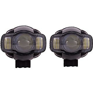 KunjZone Pro Rider USB Charger Fog Light with Universal Fitting For All Bikes (set of 2)