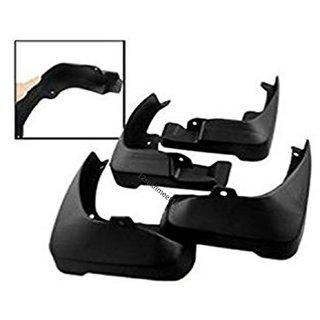 Car Black Flexible Plastic Mud Guards  Flaps - Honda Amaze Old (Type I)