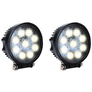 KunjZone LED Aux Fog Round Light Assembly For Car and Bikes