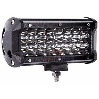 Andride Heavy Duty 24 LED Fog Light/Work Light Bar Spot Beam Off Road Driving Lamp 1 Pcs 72W CREE - Universal Fitting hence Good Fit on all Bikes and Cars