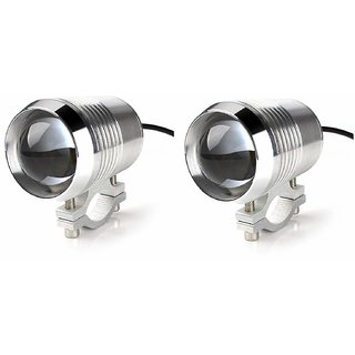 Andride U2 LED Motorycle Fog Light Bike Projector Auxillary Spot Beam Light 2 PC (Silver)